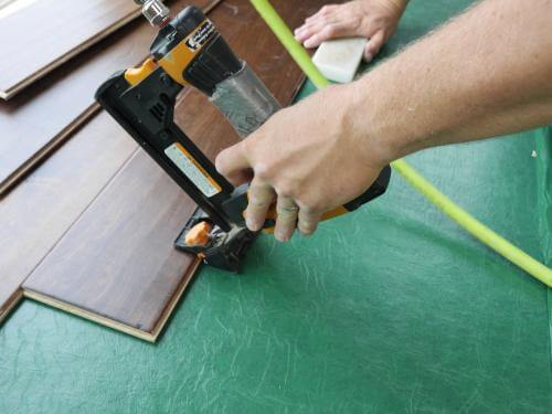 Nail-down flooring underlayment
