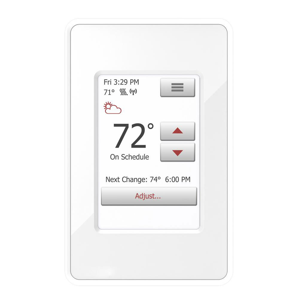 Floor Heating Dual Voltage Touch Screen Programmable Wi-Fi Thermostat
