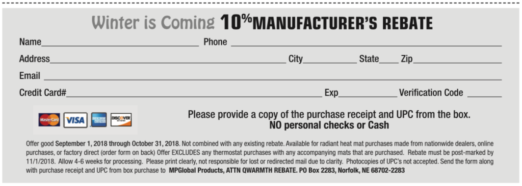 QuietWarmth Rebate Form