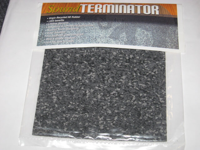 Rubber Underlay - Sound Terminator Sample