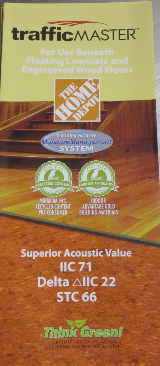 Home Depot Traffic Master BROCHURE